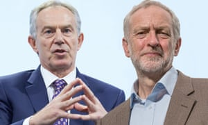 composite picture of Jeremy Corbyn and Tony Blair