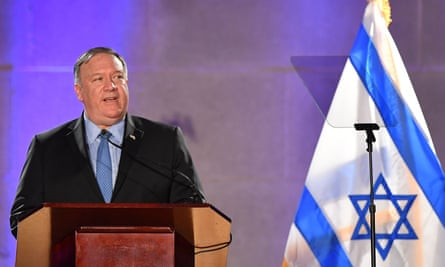 Mike Pompeo marking Israel's independence day celebrations last year.