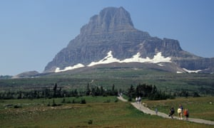 Visitors to Glacier national park in 2008. Future tourists will find a vista devoid of glaciers, a loss that scientists have lamented.