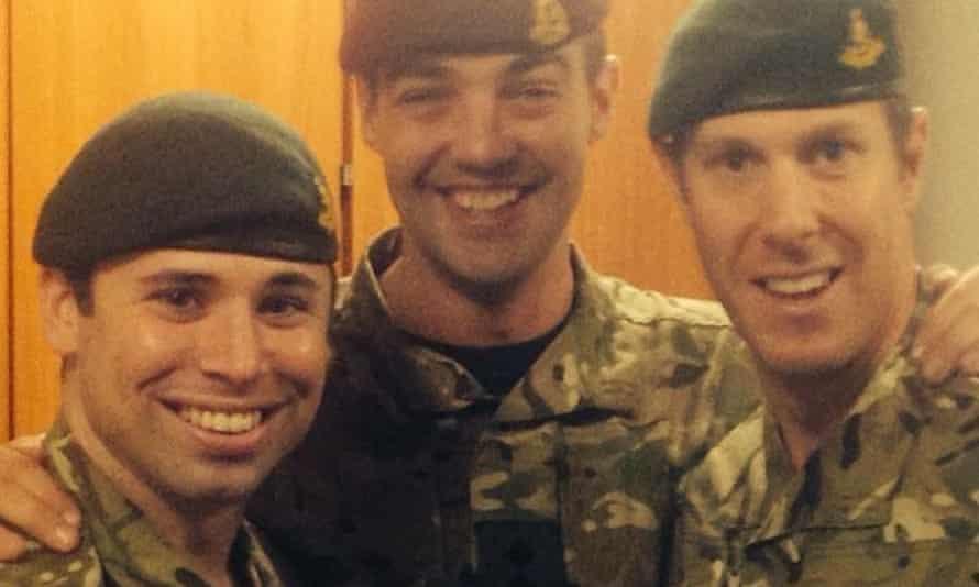Capt David Seath, left, with Capt James Walker-McClimens and Capt Aaron Foster