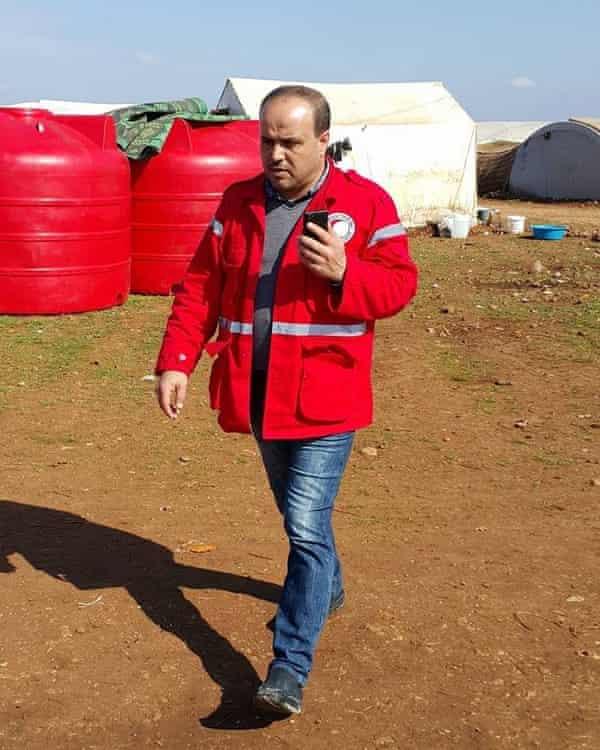 Omar Barakat of the Syrian Arab Red Crescent
