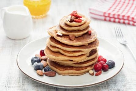 Oat pancakes.