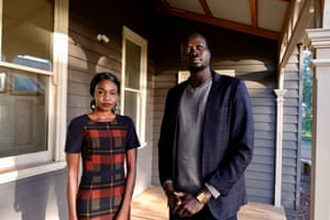 Achol Marial and Nyuol Garang from the South Sudanese Community Association in Victoria