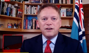 Grant Shapps on Sky News this morning.