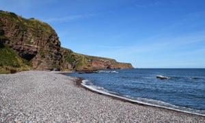 Auchmithie beach.