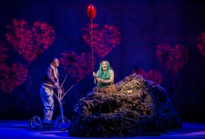 Dan Shelvey (Baldr) and Marta Fontanals-Simmons (Hel) in the World Premiere of The Monstrous Child by Gavin Higgins and libretto by Francesca Simon @ Linbury Theatre, Royal Opera House. Directed by Timothy Sheader. Conductor, Jessica Cottis. (Opening 21-02-19)