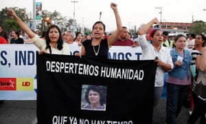 The daughter of environmentalist and indigenous leader Berta Cáceres leads a march to demand justice over her mother's murder.