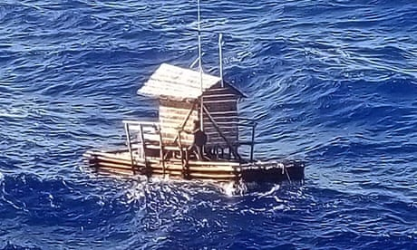 Indonesian teenager survives 49 days adrift at sea in fishing hut