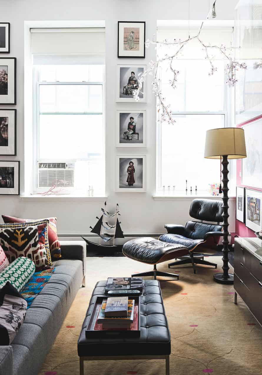An Eames lounge chair in the lounge