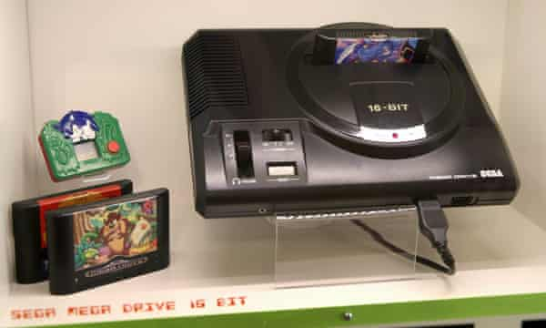 An original Mega Drive at a video game console museum in Karpacz, Poland.