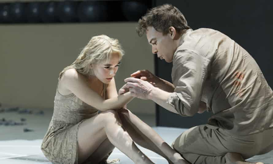 "Sophia Anne Caruso and Michael C Hall in a scene from David Bowie and Enda Walsh''s ""Lazarus."
