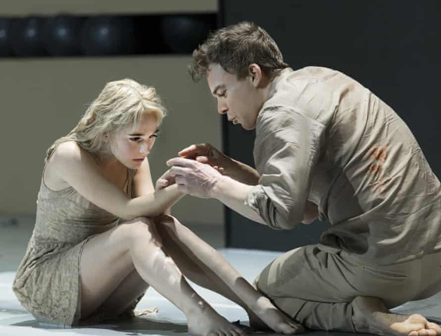 Experimental … Sophia Anne Caruso and Michael C Hall in David Bowie and Enda Walsh's Lazarus.