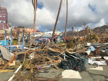 A view of the aftermath in Tortola, the largest of the British Virgin Islands.