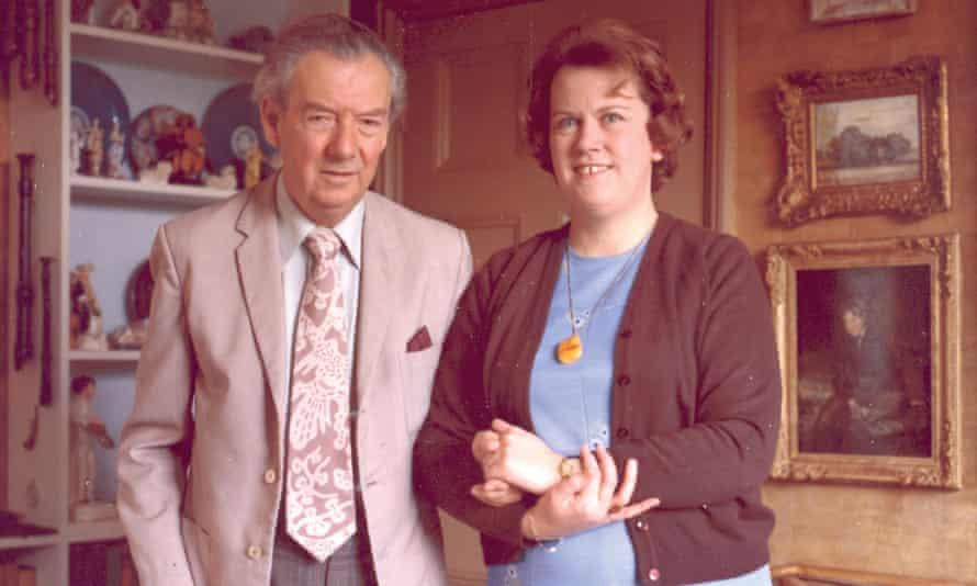 Benjamin Britten and Rita Thomson at the Red House, Aldeburgh, Suffolk, in 1976.