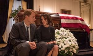 Elegiac … Peter Sarsgaard as Bobby Kennedy and Natalie Portman.