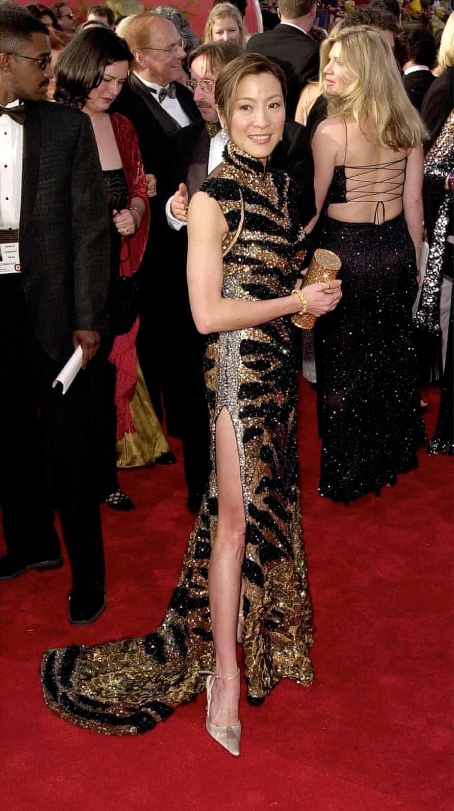 Actress Michelle Yeoh arrives for the 73rd Annual Academy Awards March 25, 2001