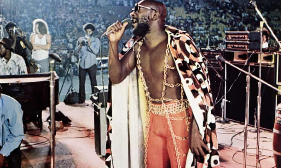 'The self-proclaimed black Moses', Isaac Hayes, performing at Wattstax.