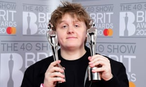 Lewis Capaldi with the Brit awards for best new artist and song of the year.