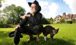 Terry Pratchett at his home near Salisbury in 2008.
