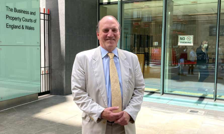 Simon Hughes outside the high court in London