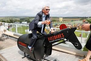 Former jockey Willie Carson enjoying himself at 'The Fitzdares Club'