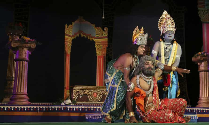 A performance of the Ramayana at a theatre in Bangalore, 2015.