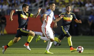 Clint Dempsey went close, but couldn't breach David Ospina and the Colombian defence.