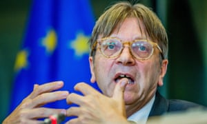 Guy Verhofstadt, the European parliament's Brexit co-ordinator, said hopes of a divorce deal in October looked doubtful.