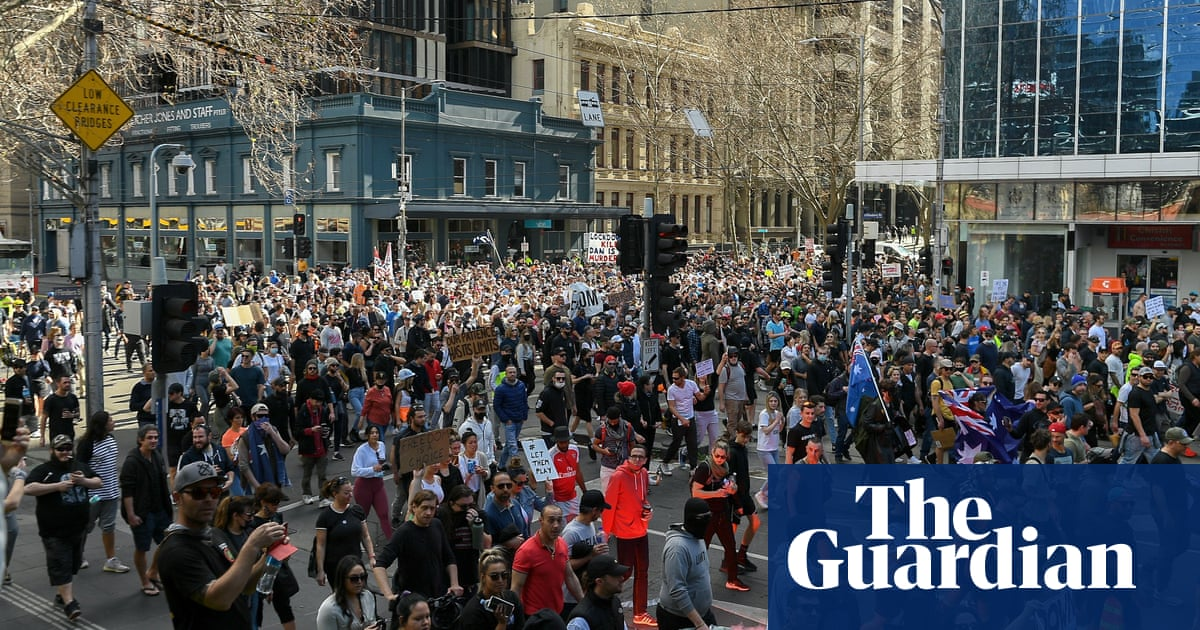 Thousands protest against Melbourne's lockdown restrictions – video