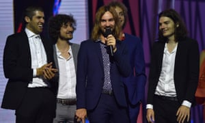 Tame Impala, the kings of the 2015 Aria awards.