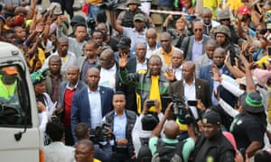 Cyril Ramaphosa in Alexandra township