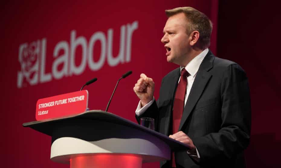 Shadow home secretary, Nick Thomas-Symonds, at the Labour party conference in Brighton.