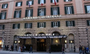 The Hotel Quirinale in Rome where Cardinal George Pell is giving evidence via video link to the child abuse royal commission sitting in Sydney.