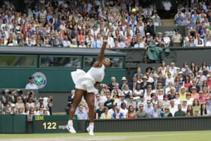 Serena Williams' serve played a big part in her victory over Angelique Kerber.