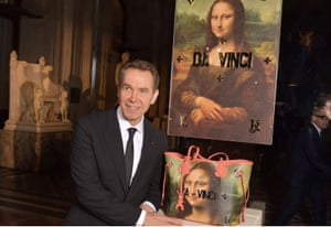 Jeff Koons launch at the launch of his Masters collection.