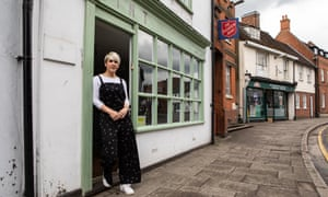 Anne Murray, owner of Mint hairdressers and salon on Ware High Street, which has shut for the lockdown.