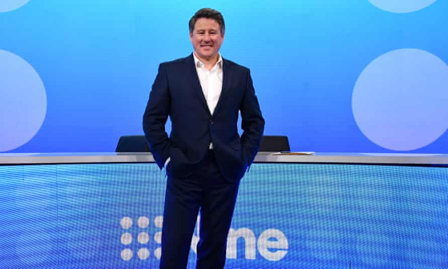 Newly appointed Nine chief executive Mike Sneesby at the company's headquarters in Sydney on Wednesday