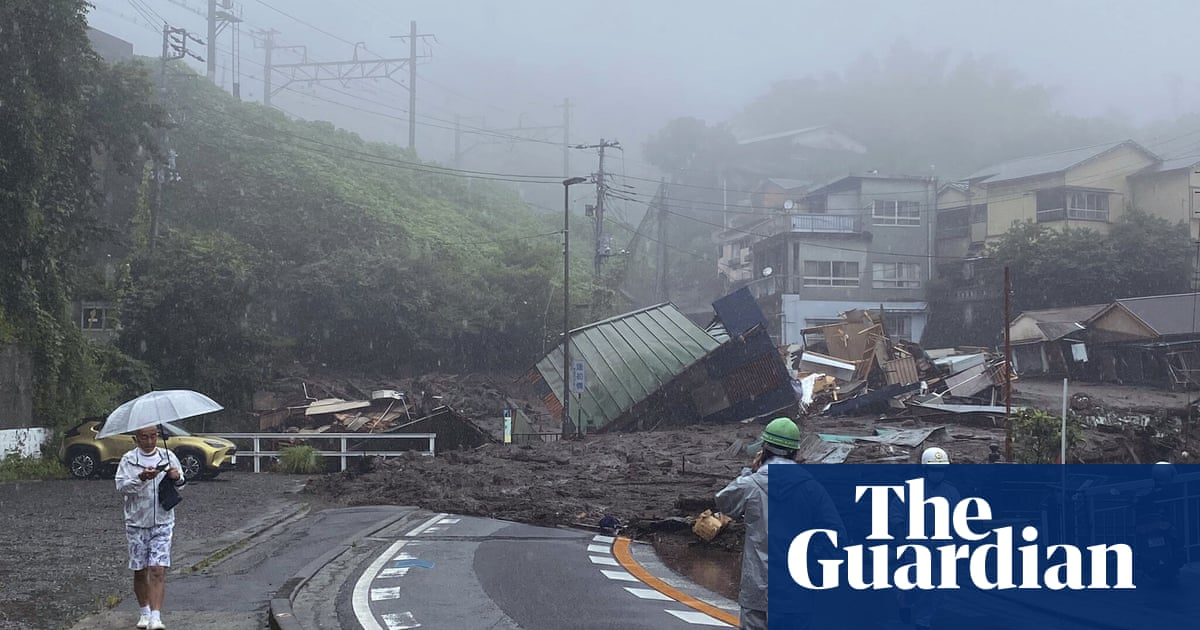 Landslide hits popular resort town in Japan leaving more than a dozen people missing