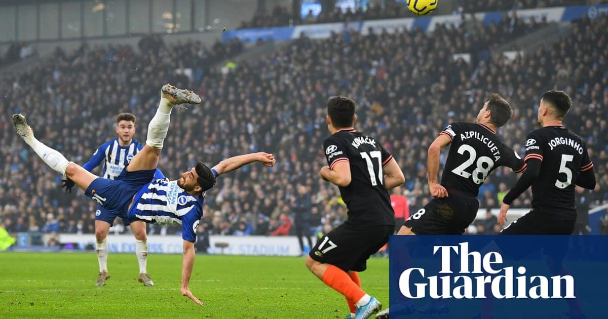 Alireza Jahanbakhsh's overhead stunner for Brighton denies Chelsea