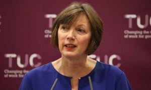 The TUC general secretary, Frances O'Grady, addresses the TUC conference in Brighton on Monday.