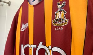 The shirt Bradford winger Sean Scannell will wear next season, containing the number 1259 - which represents where he stands in the club's history of players
