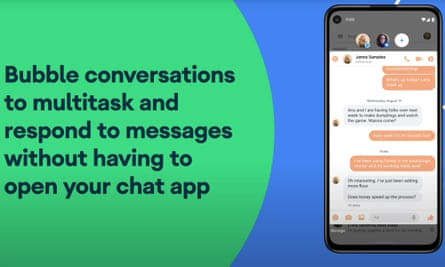 Android now has a built-in version of Facebook's Messenger Chat Heads for any chat app to use.