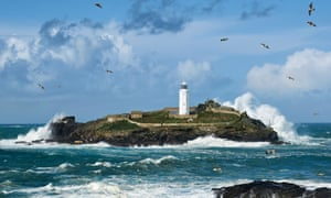 Godrevy Island, Cornwall … the family in The Water Cure live alone by the sea. Photograph: Alamy