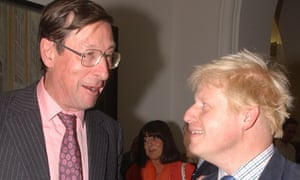 Boris Johnson with Max Hastings in 2002.