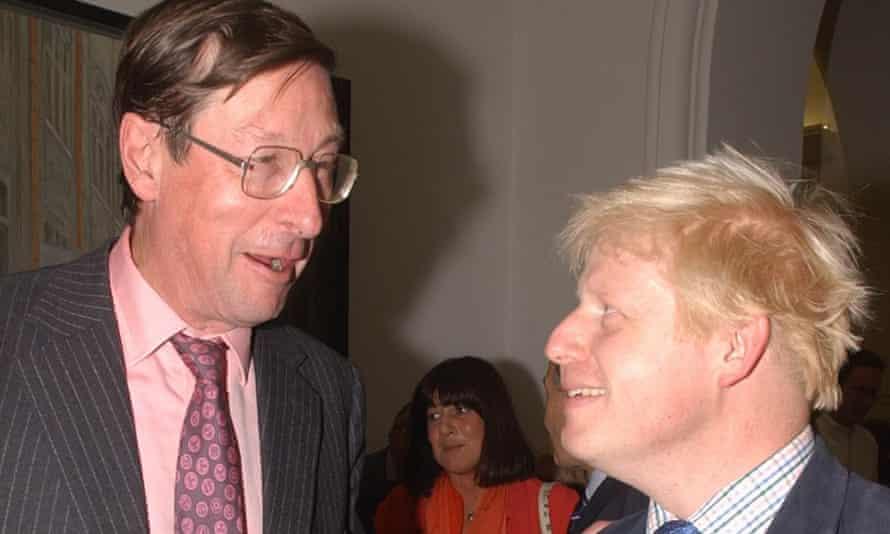 Boris Johnson with Max Hastings in 2002.