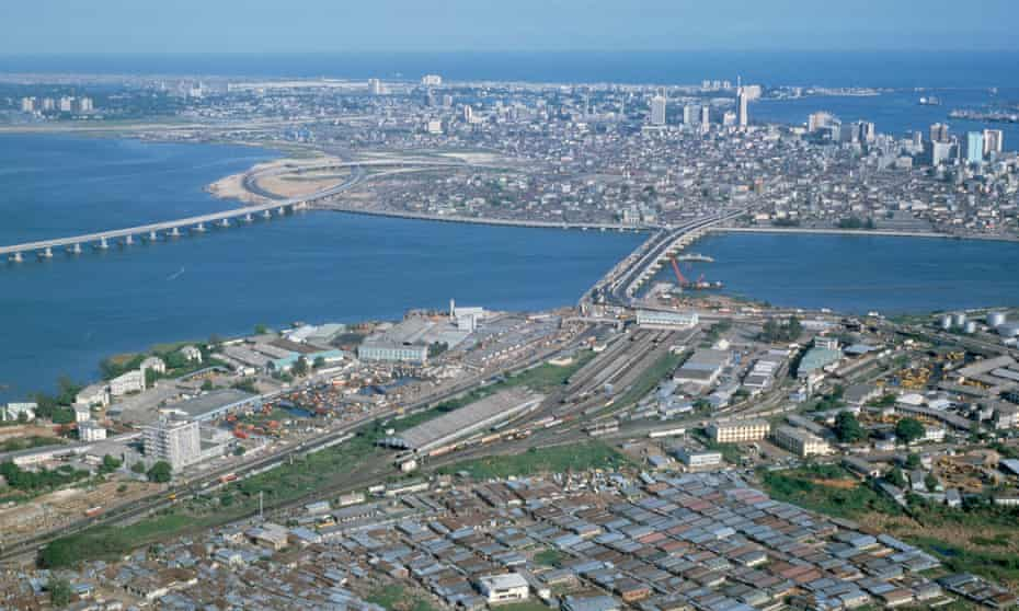 Lagos skyline, Nigeria.