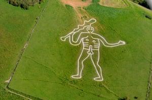 National treasure … The Cerne Abbas Giant, in Dorset, England.