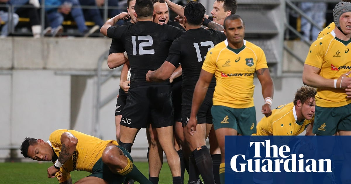 All Blacks Retain Bledisloe Cup With Comfortable Win Over Wallabies Rugby Union The Guardian