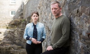 Alison McIntosh (Alison O'Donnell) and Jimmy Perez (Douglas Henshall) in Shetland