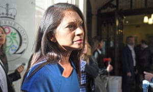 Gina Miller arriving at the supreme court. She brought one of the legal challenges against prorogation.